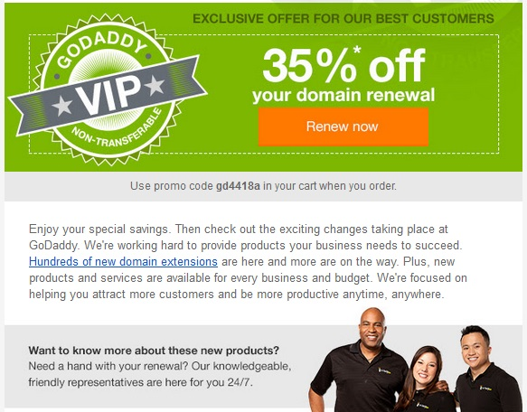 godaddy renewal domain april 2014