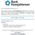 Lowongan Teller Bank 2014 Surabaya